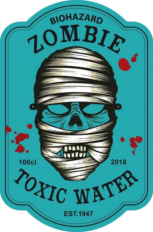 label zombie toxic water virus