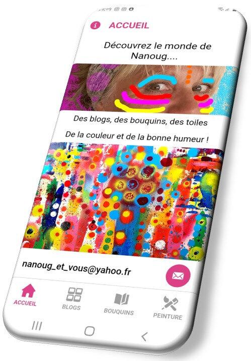 écran accueil 3d