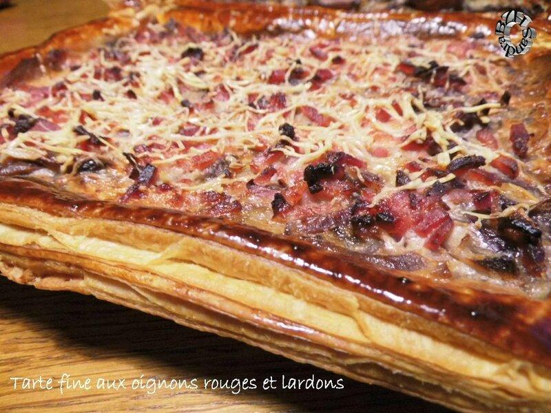 0329 Tarte fine aux oignons rouges et lardons 3