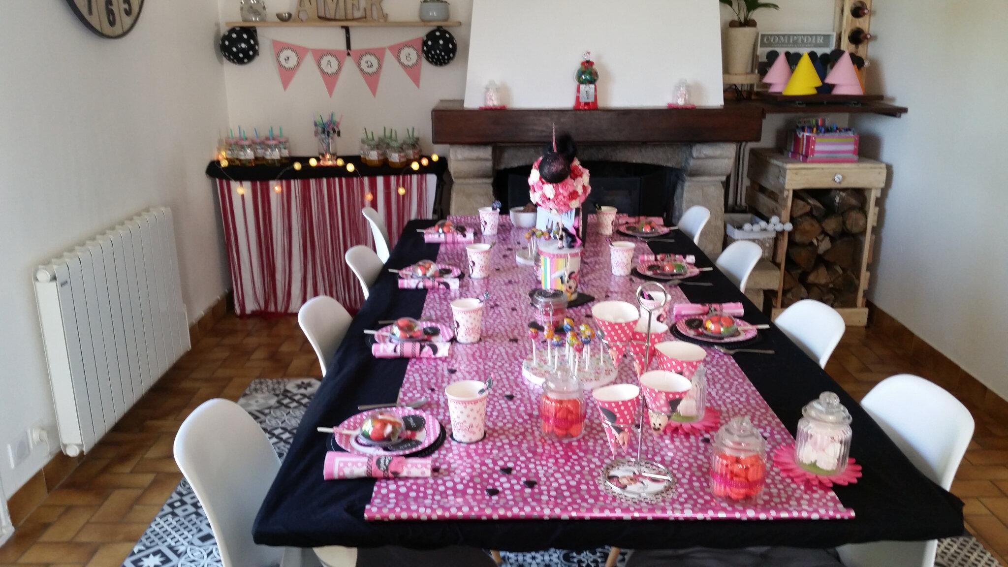 Anniversaire 6 Ans Theme Minnie Partie 2 La Decoration De Table