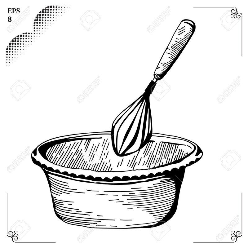 39487434-Fouetter-Fouett-e-m-thodes-culinaires-Cr-me-Chantilly-Equipement-pour-la-cuisine-Ustensiles-de-cuisi-Banque-d'images