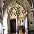 Portail de la chapelle d'hiver du cloître, ancienne salle capitulaire