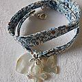 Bracelet Sainte Trinité (sur ruban Eloïse bleu)