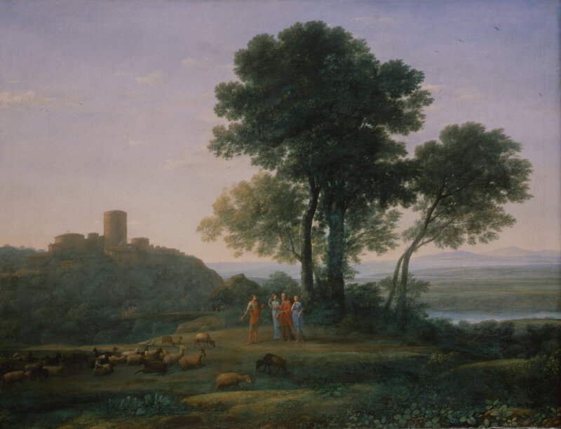 Claude Lorrain, Jacob with Laban and his Daughters