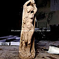 Fu artist sculptor wood nude woman art