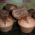 Muffins choco betteraves rouges