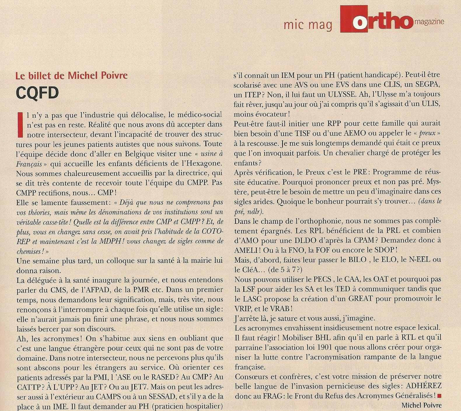 Orthomagazine