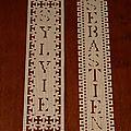 Signets en dentelle de papier