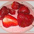 Verrines fraises rose