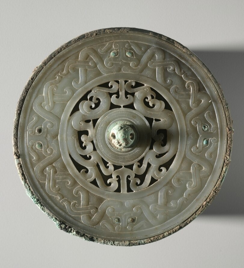 Mirror with Jade Disk Inset, China, Eastern Zhou dynasty (771-256 BC), late Warring States period (475-221 BC) - early Western Han dynasty (202 BC-AD 9)