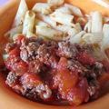 Tagliatelle de courgettes et pâtes à la bolognaise - a partir de 12 mois
