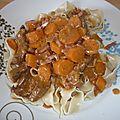 Bœuf braisé aux carottes.