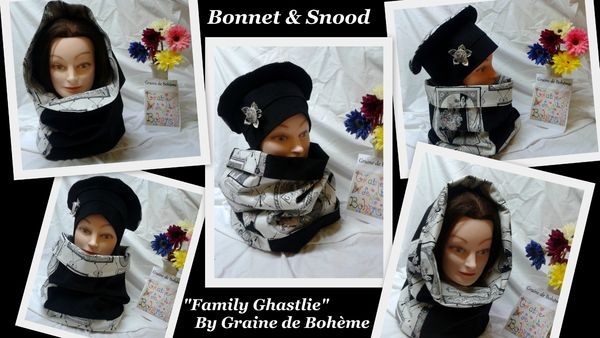 Bonnet et snood velours ghastlie