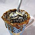 Mug cake banane chocolat coco