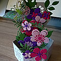 Jardinière en fleurs