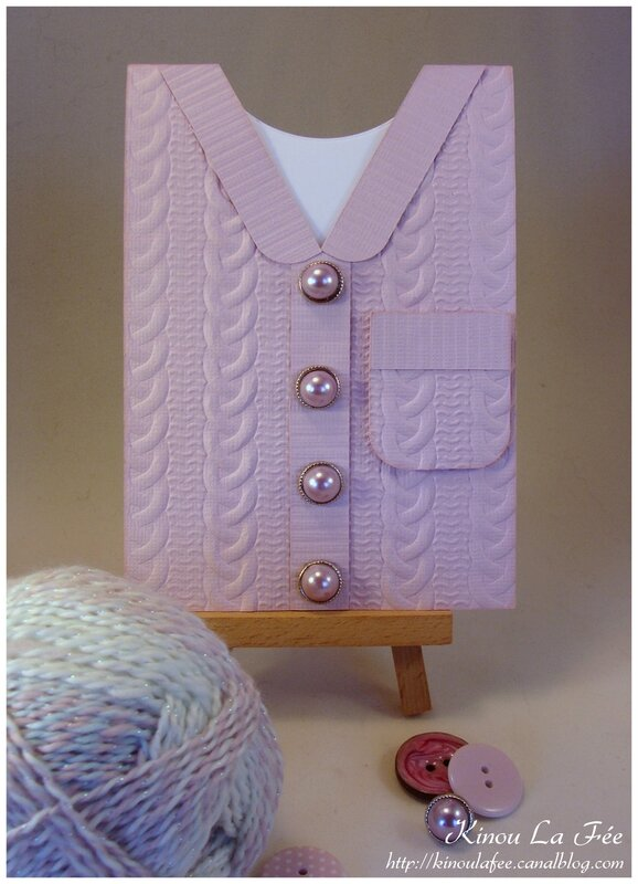 Carte Cable Knit rose 1