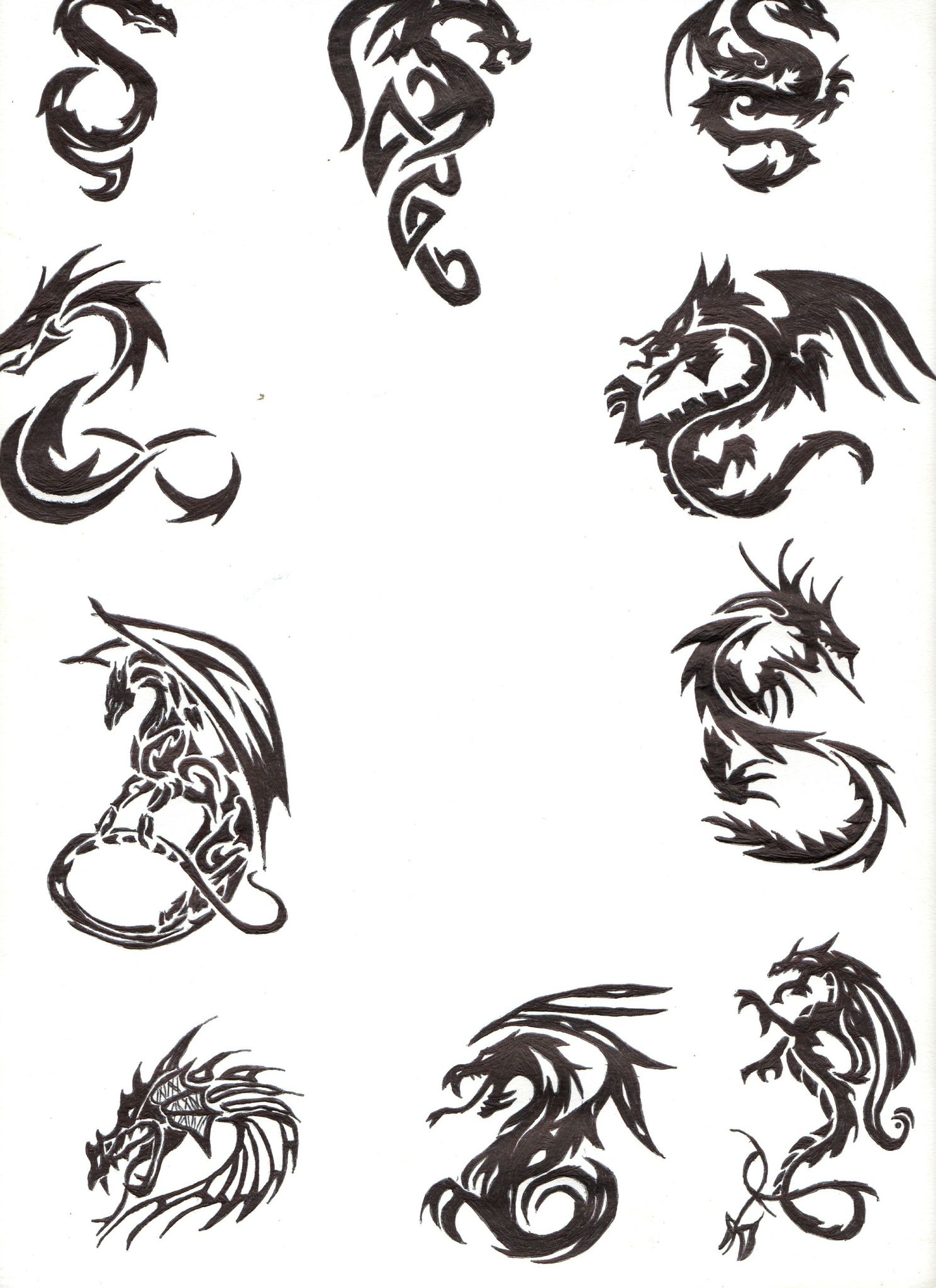 Dessins Tribaux Dragons Dessins Tribaux