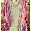 veste rose cadre