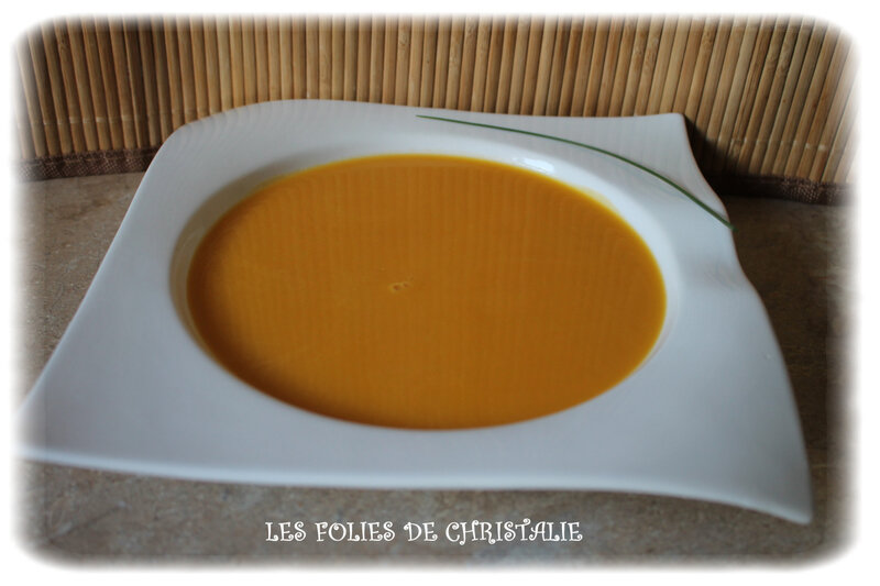 Velouté butternut patate douce 4