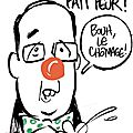 ps hollande humour clown chomage
