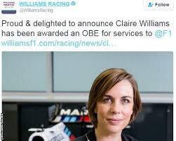 claire williams obe