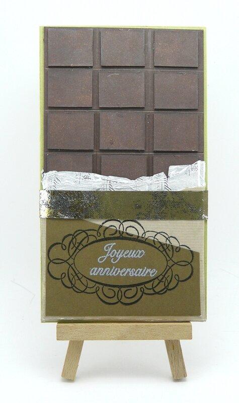 Carte chocolat et son bandeau