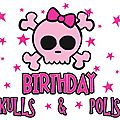 Happy birthday skulls and polish !