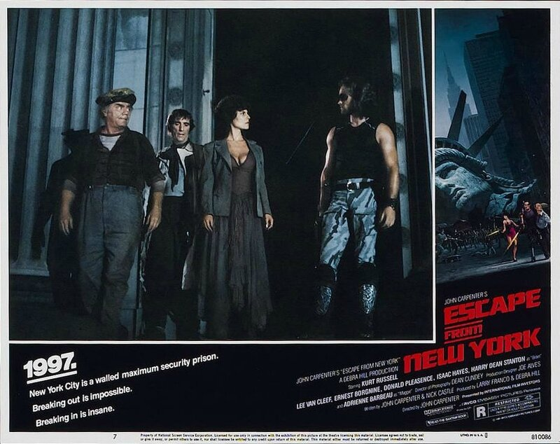 Escape from New York lobby card 1
