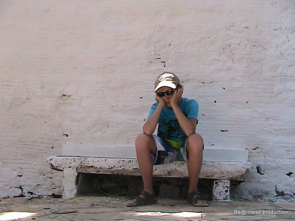 Banc monastère (Naxos, août 2012)