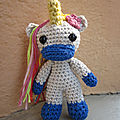 Test crochet - radiant the unicorn...