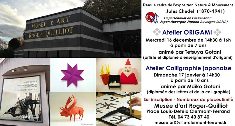 Musee Roger Quilliot Origami-Calligraphie 2015-16