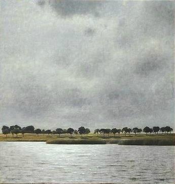 Vue du lac de Gentofte Vilhelm Hammershoi