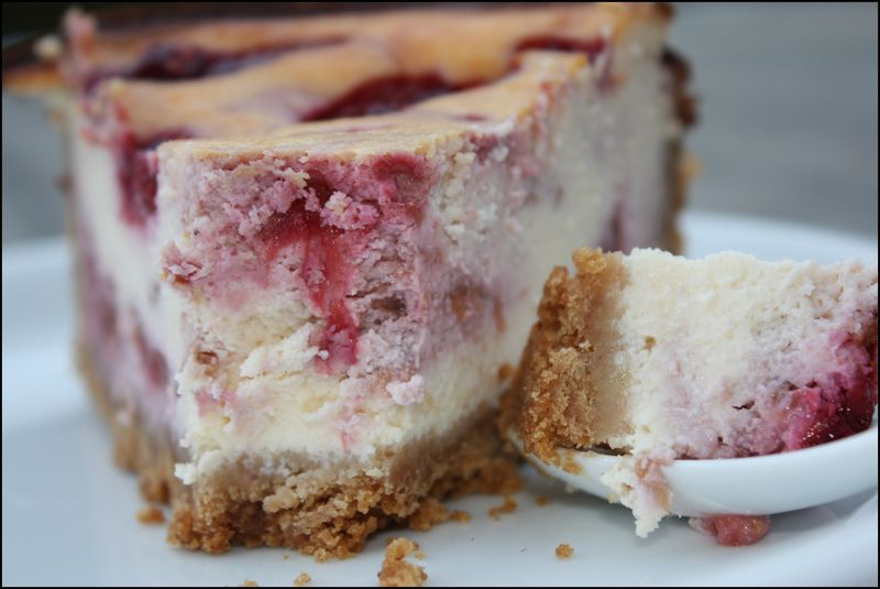 Cheesecake chocolat blanc - framboises - Wonder Cooking