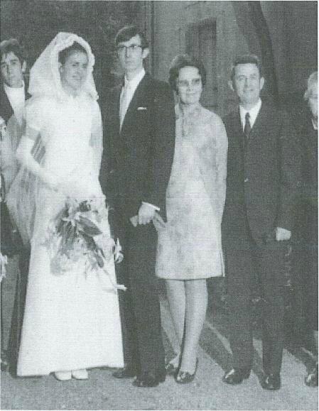 Mariage Marcel Queffelec et Andrée MURER 11 juillet 1969 à Murbach