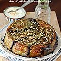 Gâteau d'aubergine au riz & aux noix de cajou