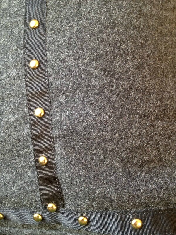 sac cabas lainage flannelle gris anthracite