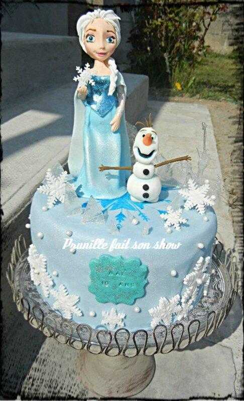 Elsa frozen cake prunillefee