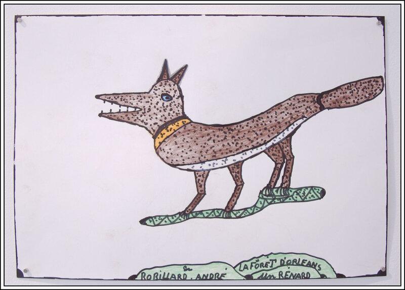 André Robillard - la forêt d'Orléans, un renard