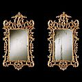 George ii period chinese chippendale carved giltwood mirrors. english, circa 1755