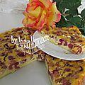 Gâteau aux cerises crémé et amandé et bonne fête des pères pour dimanche