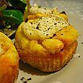Muffins au chorizo et chèvre