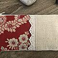 Trousse tissu ancien rouge - réf. tr 0440