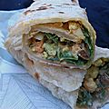 Dans ma lunch box: wraps au romanesco, noisettes et curry