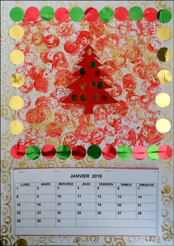 282_Noël et Nouvel an_Carte ou calendrier rouge et or (55)