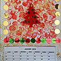 Carte ou calendrier rouge et or (mis à jour pour 2021)