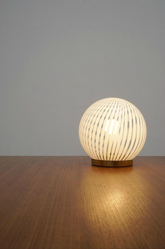 lampe boule gravée 1