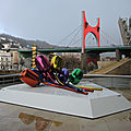 Bilbao, musée Guggenheim, Tulips et pont de la Salve