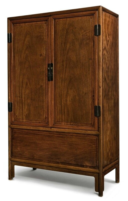 A 'Huanghuali' and Mixed-Wood Square Corner Cabinet, late Qing dynasty