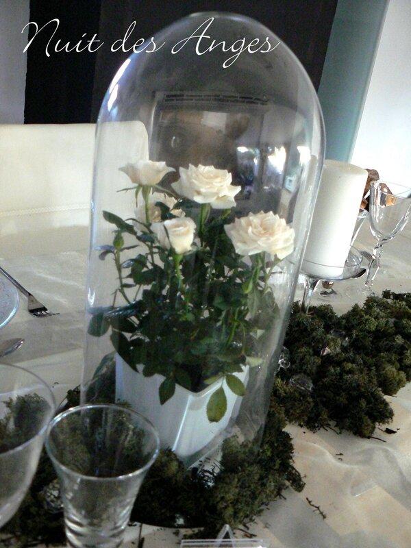 Nuit des anges décoratrice de mariage décoration de table blanche et verte 005