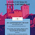 Vernissage mercredi 16 septembre 2015 17h30 / 19h30